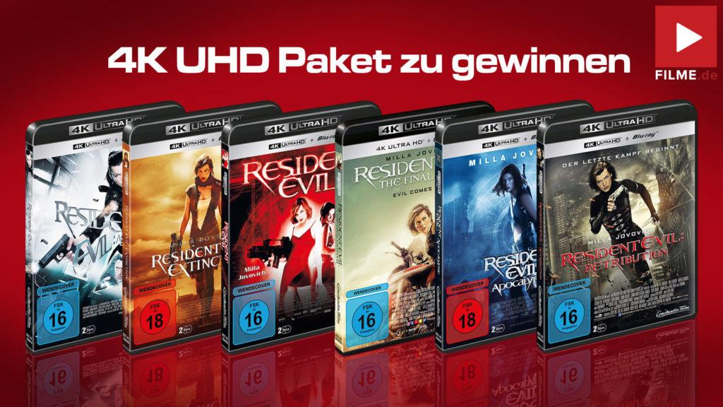 RESIDENT EVIL-Reihe in 4K UHD gewinnen Gewinnspiel Artikelbild