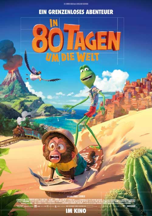 IN 80 TAGEN UM DIE WELT Film 2021 animiert Kino Plakat