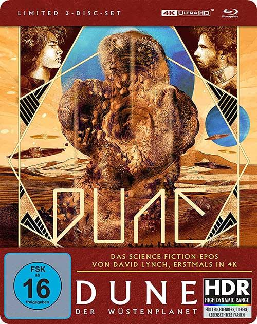 Dune - Der Wüstenplanet Film 1984 David Lynch 4K UHD Steelbook Cover shop kaufen