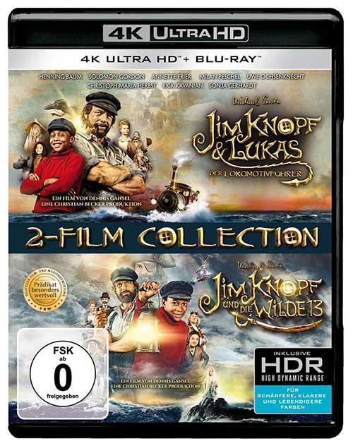 Jim Knopf & Lukas der Lokomotivführer + Jim Knopf und die Wilde 13 (2 4K Ultra HD) (+ 2 Blu-ray 2D) Cover shop kaufen