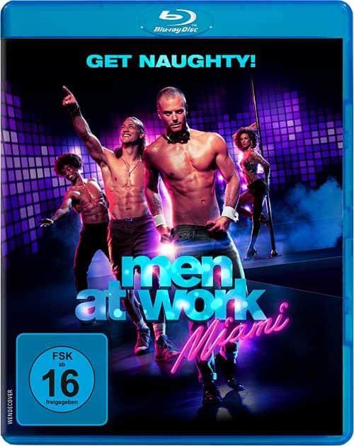 """""""Men at Work: Miami"""" – Humor, heiße Strips und gestählte Muskeln! Film 2021 Blu-ray Cover shop kaufen"""