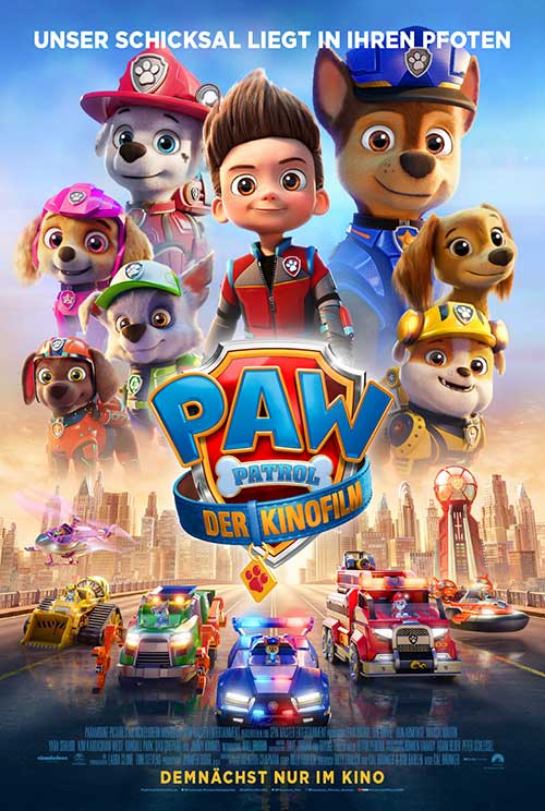 PAW PATROL: DER KINOFILM Film 2021 Kinostart Kino Plakat