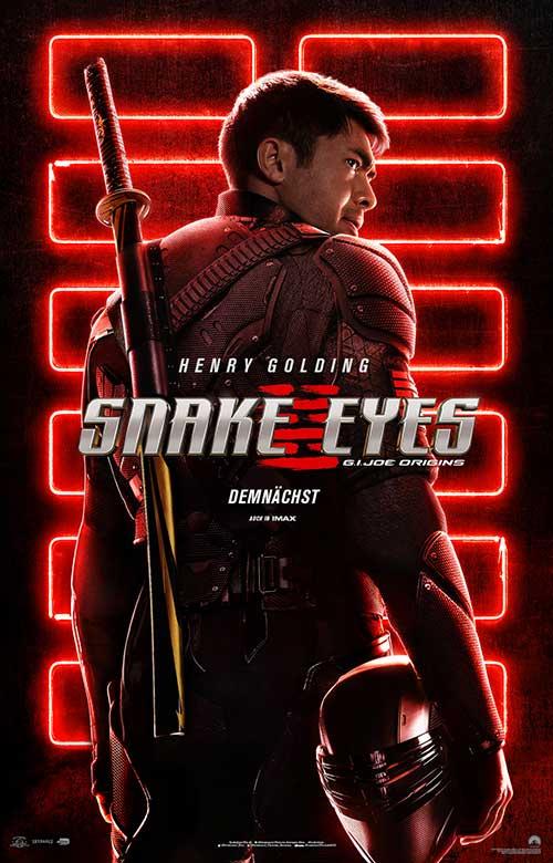 SNAKE EYES: G.I. JOE ORIGINS Film 2021 Kinostart Plakat
