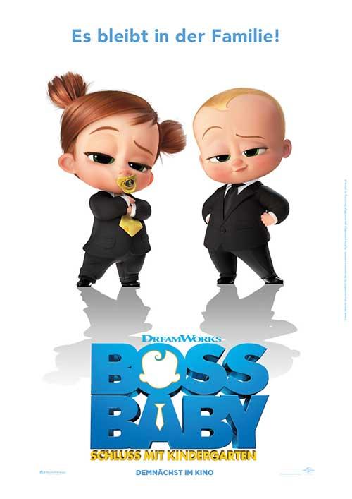 BOSS BABY 2 – Schluss mit Kindergarten Film 2021 Kinostart Kino Plakat Blu-ray DVD