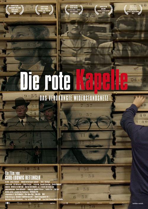 """""""Die rote Kapelle"""" – Das verdrängte Widerstandsnetz Film 2021 Kinostart Trailer Kino Plakat"""