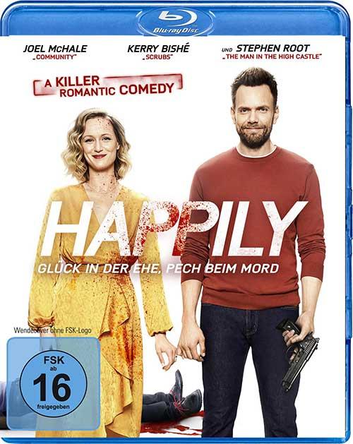 Happily – Glück in der Ehe, Pech beim Mord Film 2021 Blu-ray Cover Shop kaufen