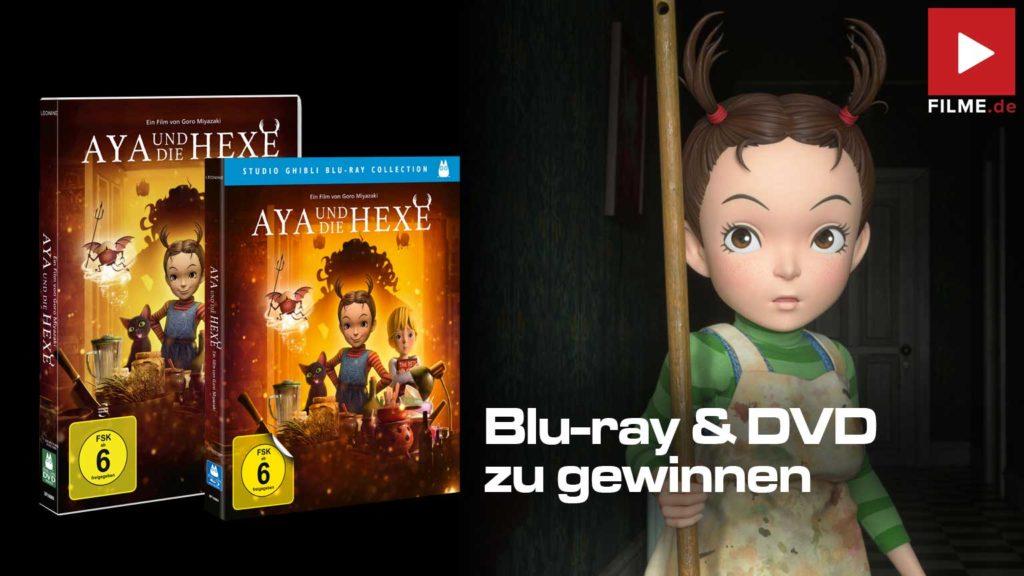 Aya und die Hexe Film 2021 Blu-ray DVD Gewinnspiel gewinnen Artikelbild
