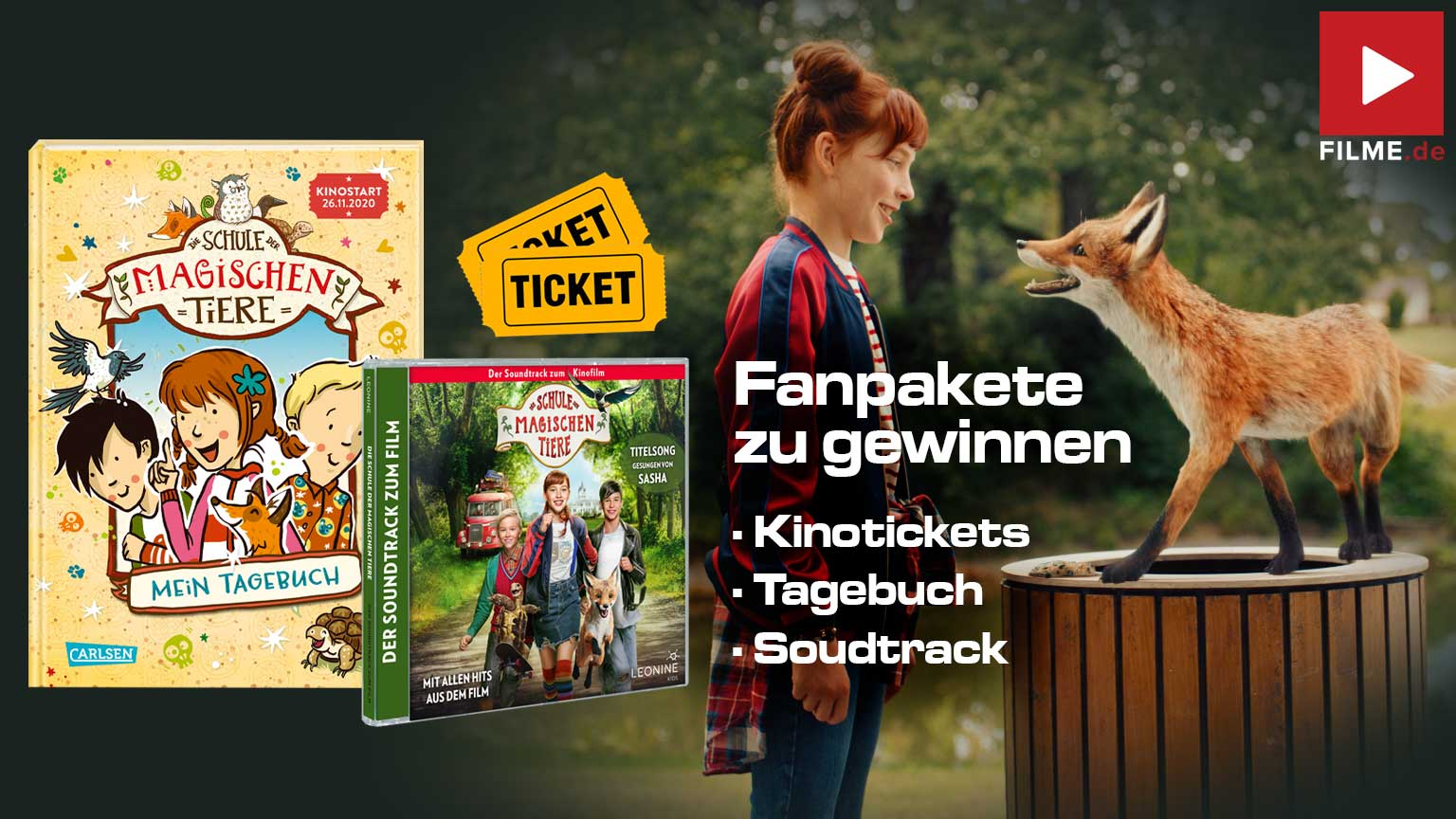 Die Schule der magischen Tiere Gewinnspiel gewinnen Fanpaket Tagebuch Soundtrack Kinotickets Artikelbild