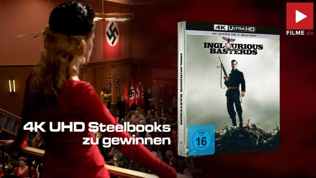 Inglourious Basterds Film 2009 4k UHD Steelbook Gewinnspiel gewinnen Artikelbild