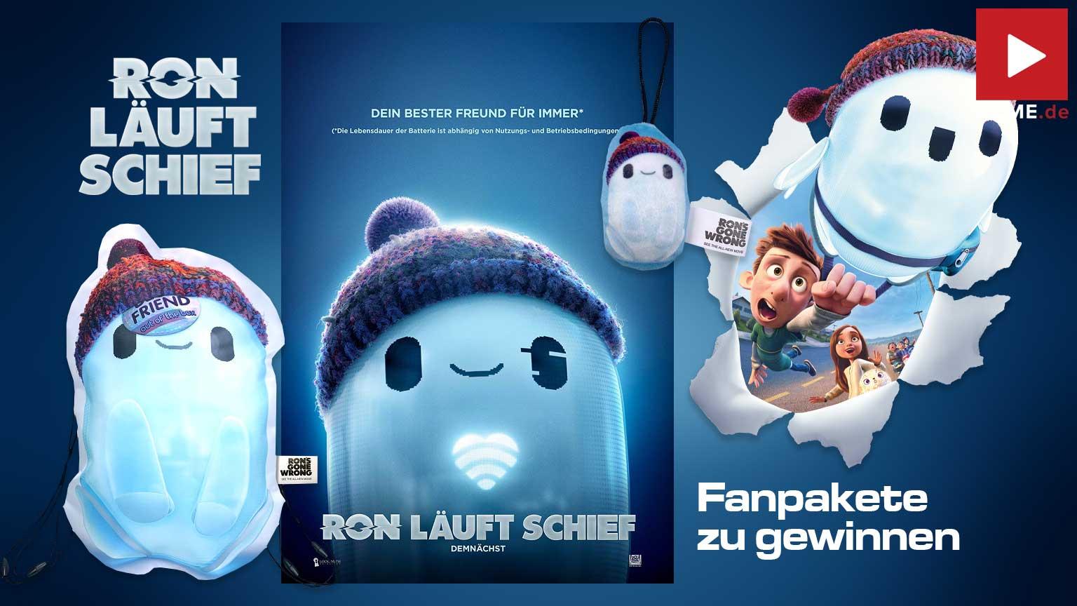 RON LÄUFT SCHIEF Film 2021 Gewinnspiel gewinnen Turnbeutel Poster Screen Cleaner Fanpaket Artikelbild