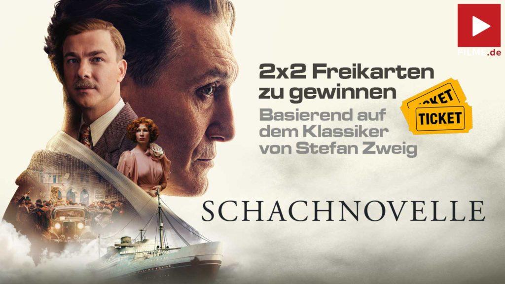 SCHACHNOVELLE Film 2021 Gewinnspiel Kinokarten Artikelbild