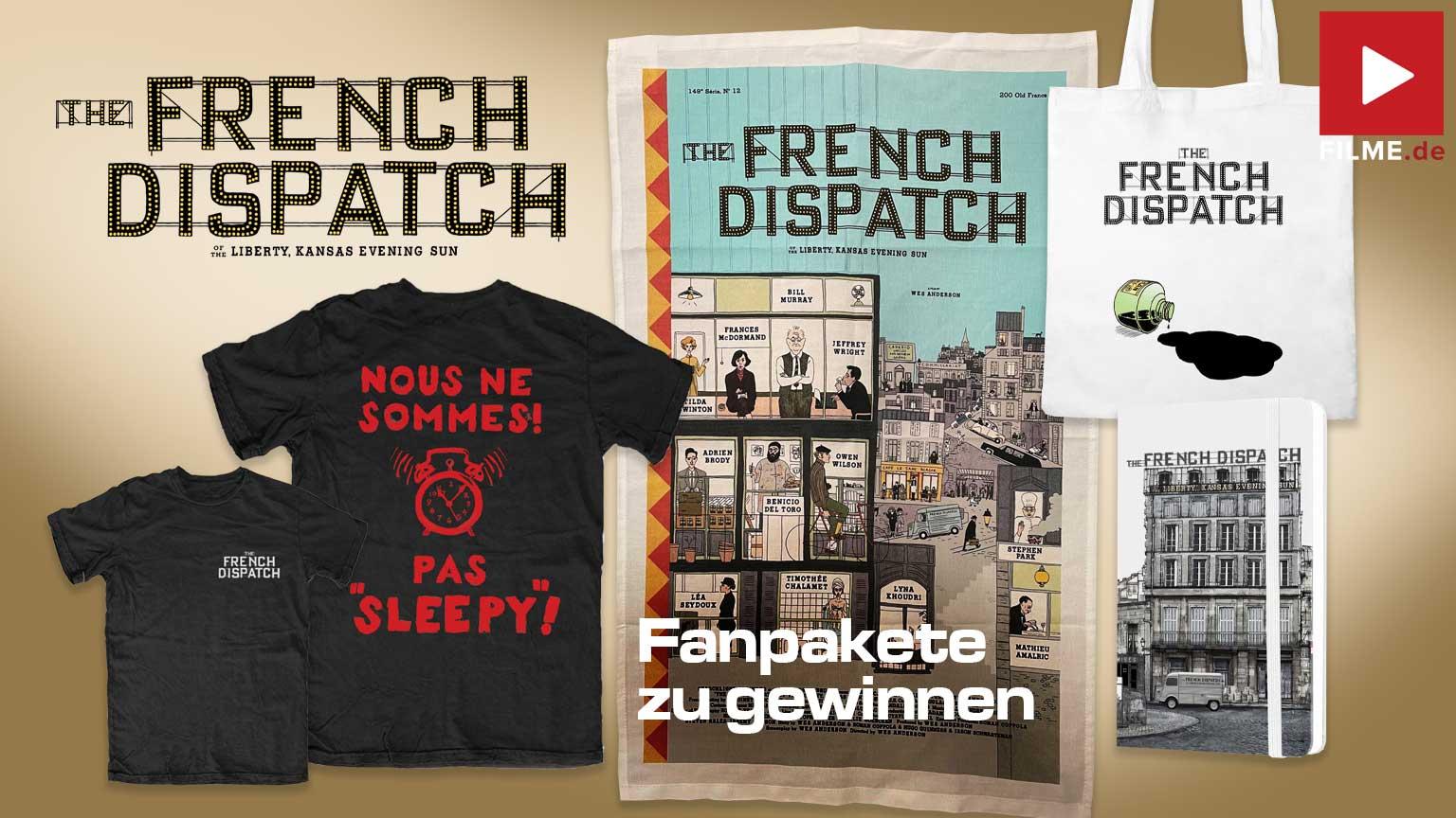 THE FRENCH DISPATCH Film 2021 Kinostart Gewinnspiel gewinnen Tshirt Beutel notizbuch geschirrtuch artikelbild