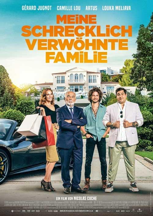 MEINE SCHRECKLICH VERWÖHNTE FAMILIE Film 2021 Kino Plakat