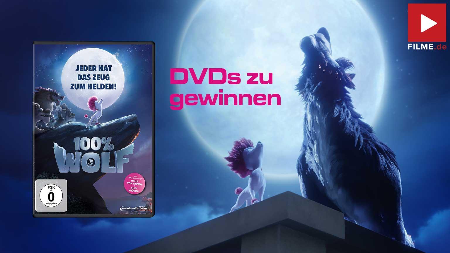 100% WOLF Film 2021 Gewinnspiel gewinnen DVD Artikelbild